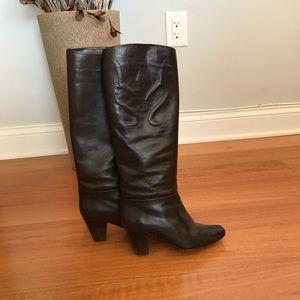 Dark brown Hana Mackler heeled boots